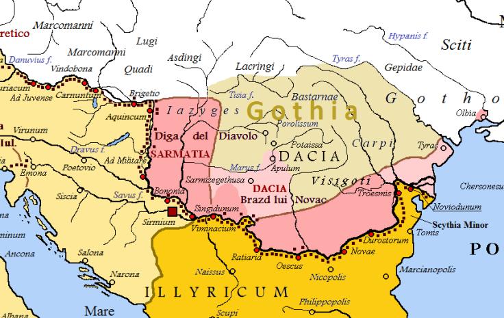Dacia sub Constantin cel Mare