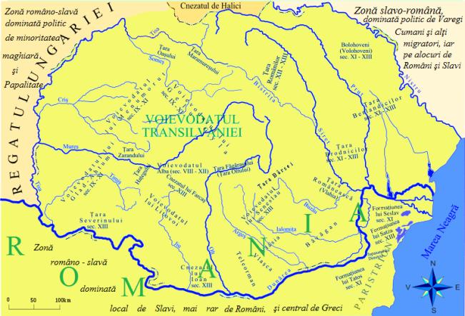 Ducatele şi alte state din Dacia nord-dunăreană sec. IX-XIII