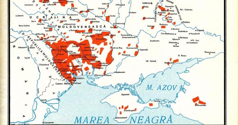 Romanii din Transnistria Harta Etnica Romania Mare Basarabia Pamant Romanesc