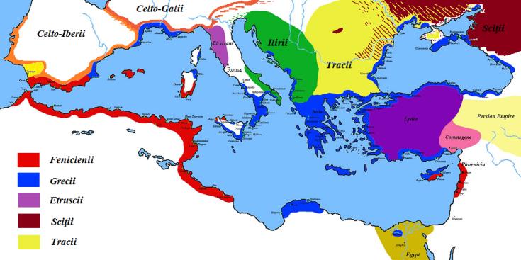 Imperiile europene în secolul VI îChr mic 2