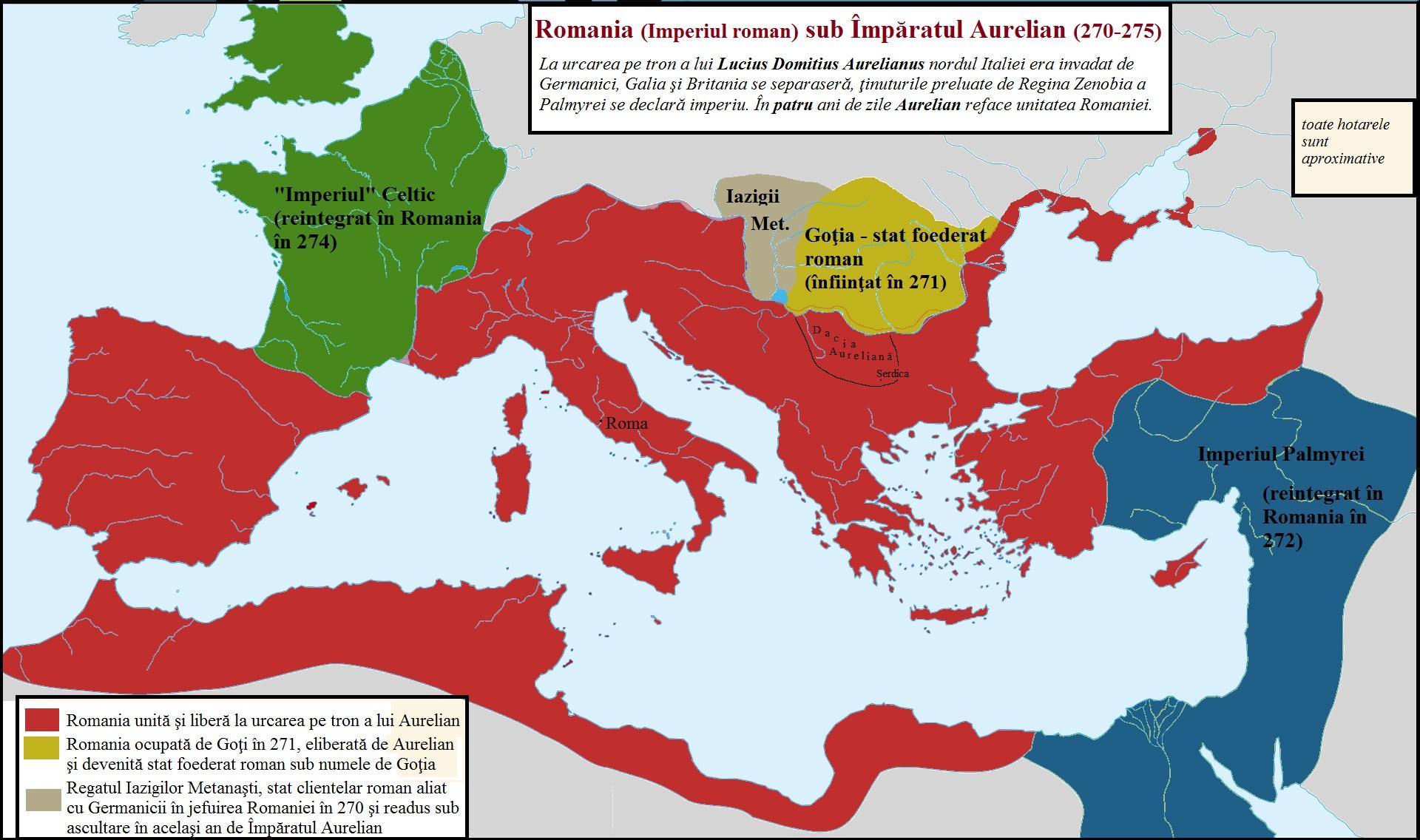 Romania sub Aurelian 270 275