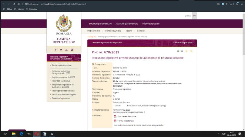 Proiect de lege 670/2019 mărime medie