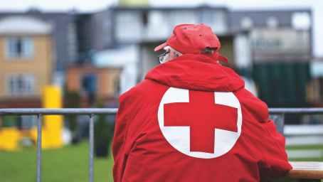 portrait watching dutch red cross